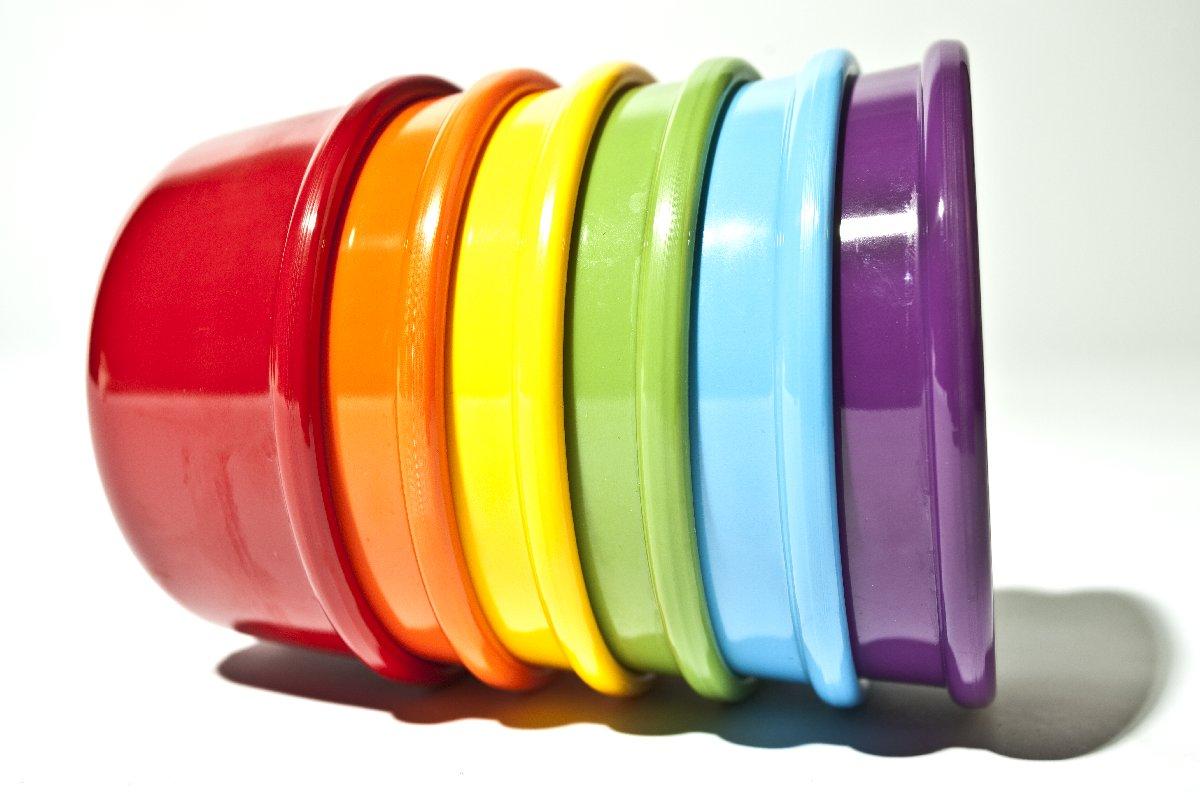 Förmchen Regenbogenfarben