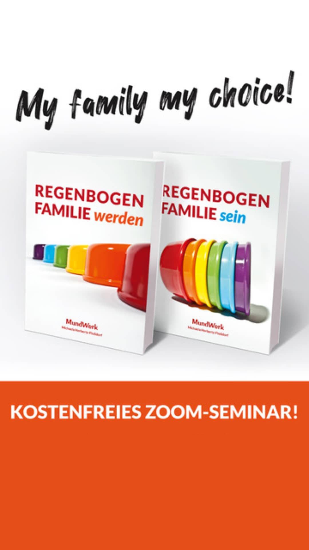 Regenbogenfamilie werden Regenbogenfamilie sein